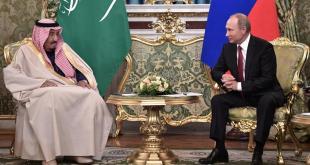 Salman bin Abdulaziz al Saud, konungur Sádi-Arabíu, og Vladimír Pútín í Moskvu.