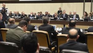 Frá fundi varnarmálaráðherra NATO-rikjanna 8. nóvember 2017.