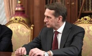 Sergei Narjíshkin, forstjóri rússnesku stofnunarinnar til njósna erlendis.