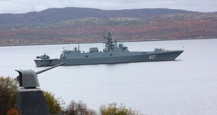 Fréigátan Admiral Gorshkov.