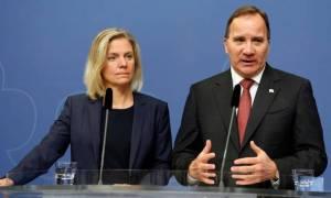 Magdalena Andersson, fjármálaráðherra Svíþjóðar, og Stefan Löfven forsætisráðherra.