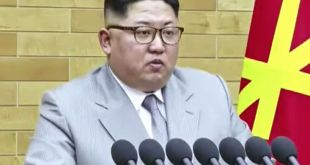Kim Jong-un flytur nýársávarp.