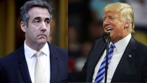 Michael Cohen og Donals Trump.