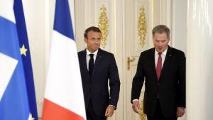 Emmanuel Macron og Sauli Niinistö.