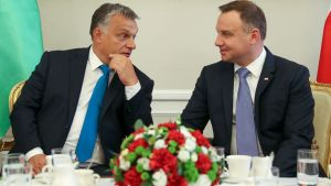 Viktor Orbán og Andrzej Duda.