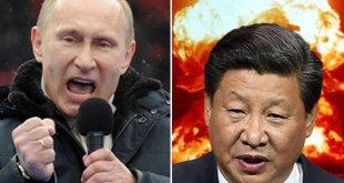 Vladimír Pútín Rússlandsforseti og Xi Jinping Kínaforseti.