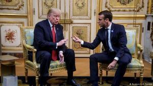 Donald Trump og Emmanuel Macron á fundi í París 10. nóvember 2018.