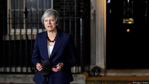 Theresa May kynnir stuðning ríkisstjótnarinnst við ESB-áætlun sína.
