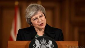 Theresa May á blaðamannafundinum 15. nóvember.
