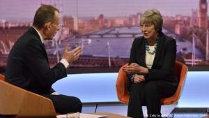 Theresa May ræðir við Andrew Marr í BBC.