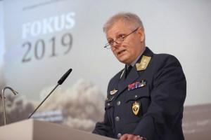 Morten Haga Lunde, forstjóri leyniþjónustu norska hersins.