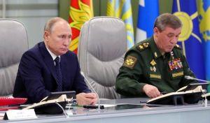 Vladimnir Pútin og Valeríj Gerasimov.