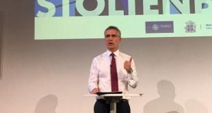 Jens Stoltenberg, framkvæmdastjóri NATO, á fundi í Norræna húsinu 11. júní 2019.