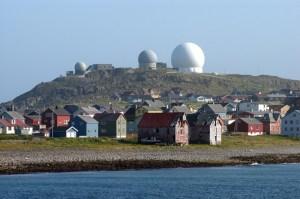 Ratsjárnar á Vardø.