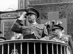 Francisco Franco, einræðisherra Spánar.
