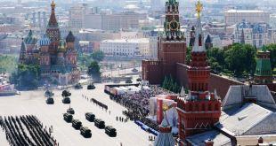 Frá hersýningu í Moskvu 24. maí 2020.