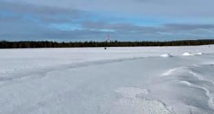 Frá flugvellinum í Kemijärvi.
