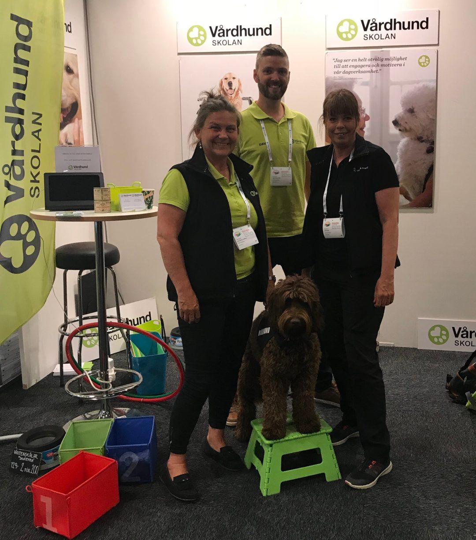 Vårdhundskolan i samarbete med Uppsala kommun på Demensdagarna