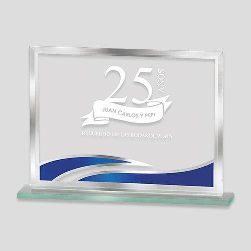 trofeo cristal azul