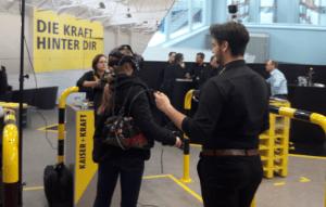 VR am Stand von Kaiser+Kraft