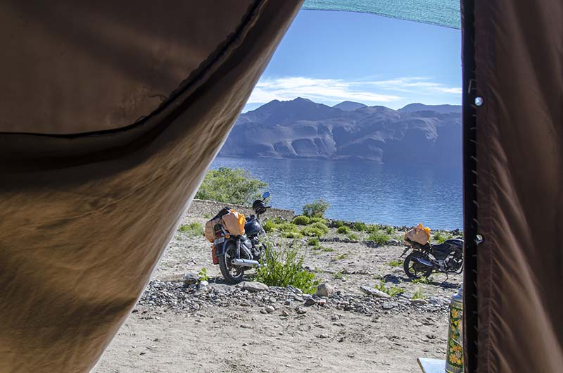 From Inside A Camp At Pangong