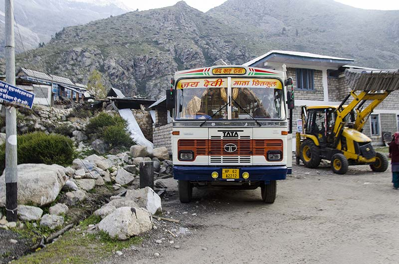bus service in kinnaur valley