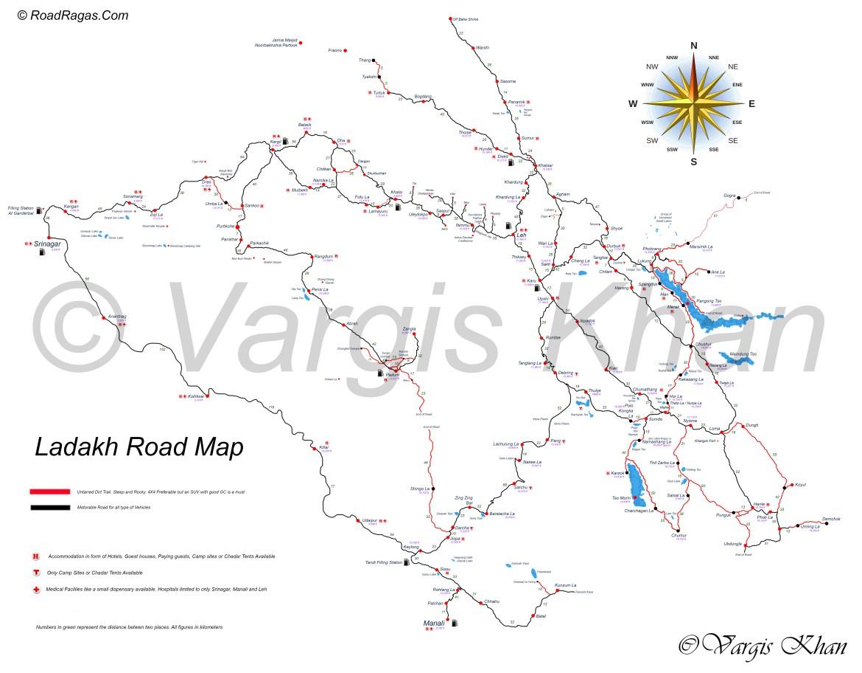 ladakh road map