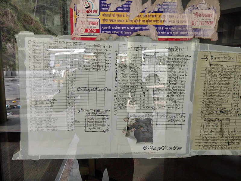 shimla bus timetable
