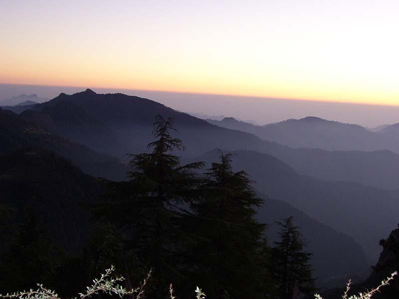 sunrise in pangot