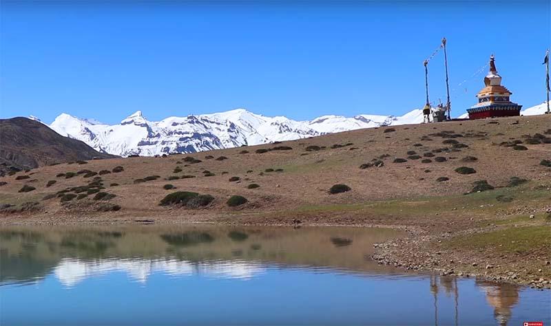 gompa near the lake