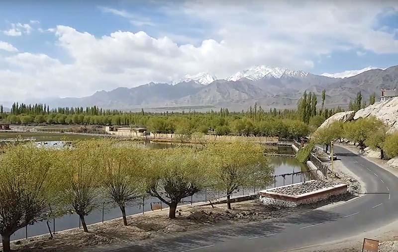 the road to shey monastery