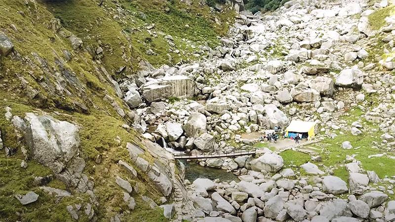 trekking to kareri lake