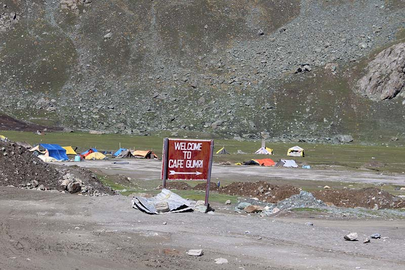 cafe gumri on the way from kargil to srinagar