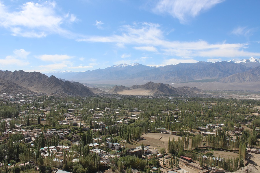 View of the Leh City