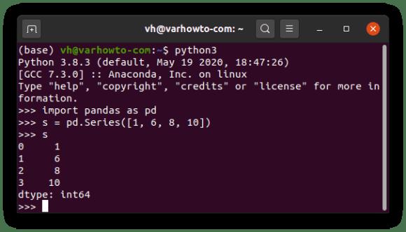 Checking if pandas is installed on Ubuntu 20.04