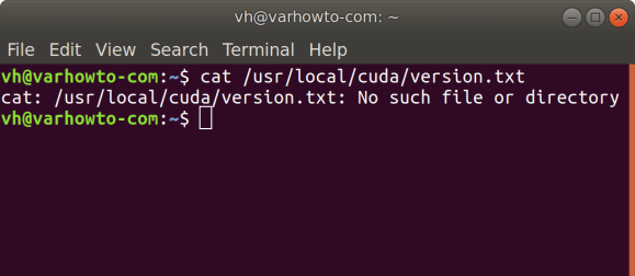 cat usr local cuda version.txt for TensorFlow