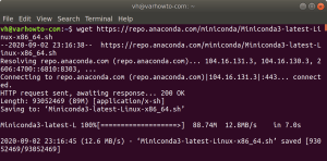 Downloading the latest Miniconda shell script to Ubuntu 18.04