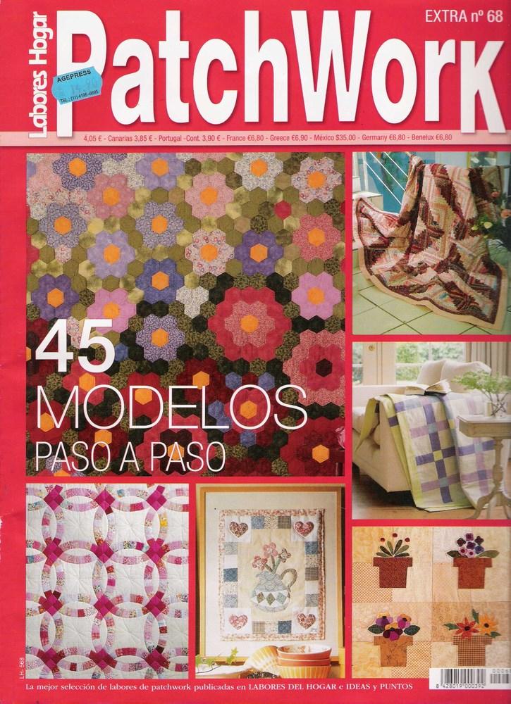 Patchwork 45 modelos paso a paso variasmanualidades 39 s blog - Patrones colcha patchwork ...