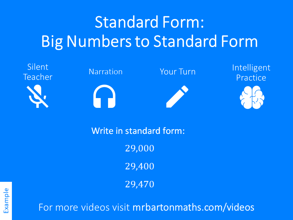 Big Numbers To Standard Form Variation Theory