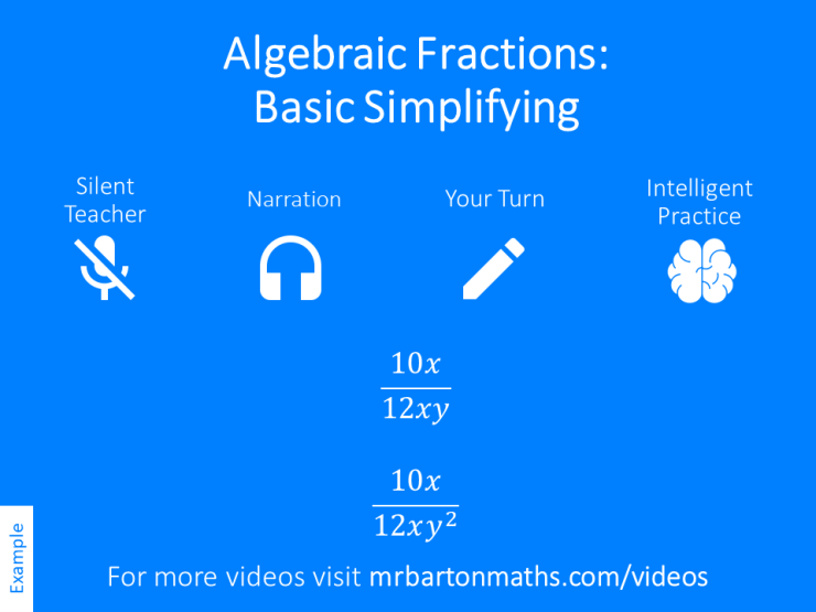Simplifying Algebraic Fractions Basic Variation Theory