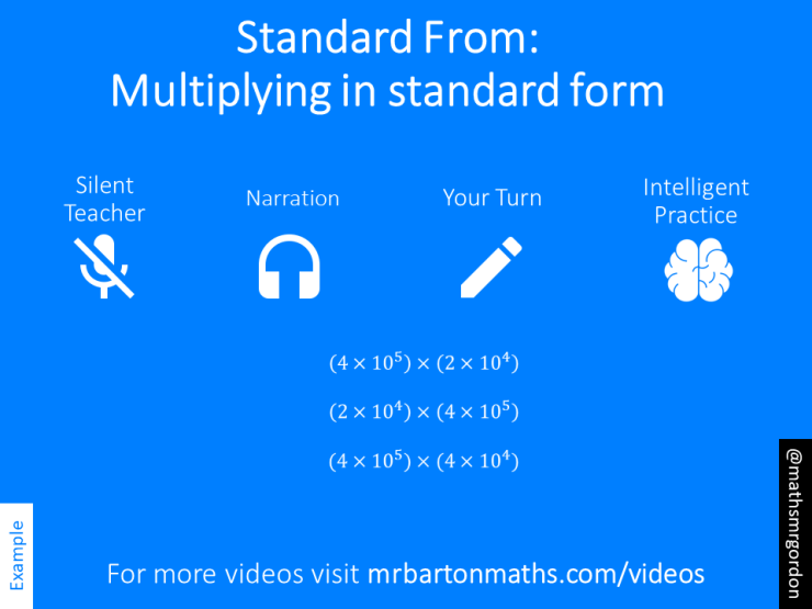 Multiplying With Standard Form Variation Theory