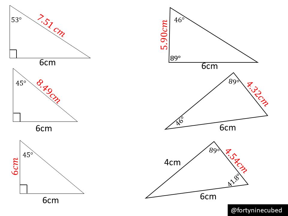 Sine rule – finding missing sides