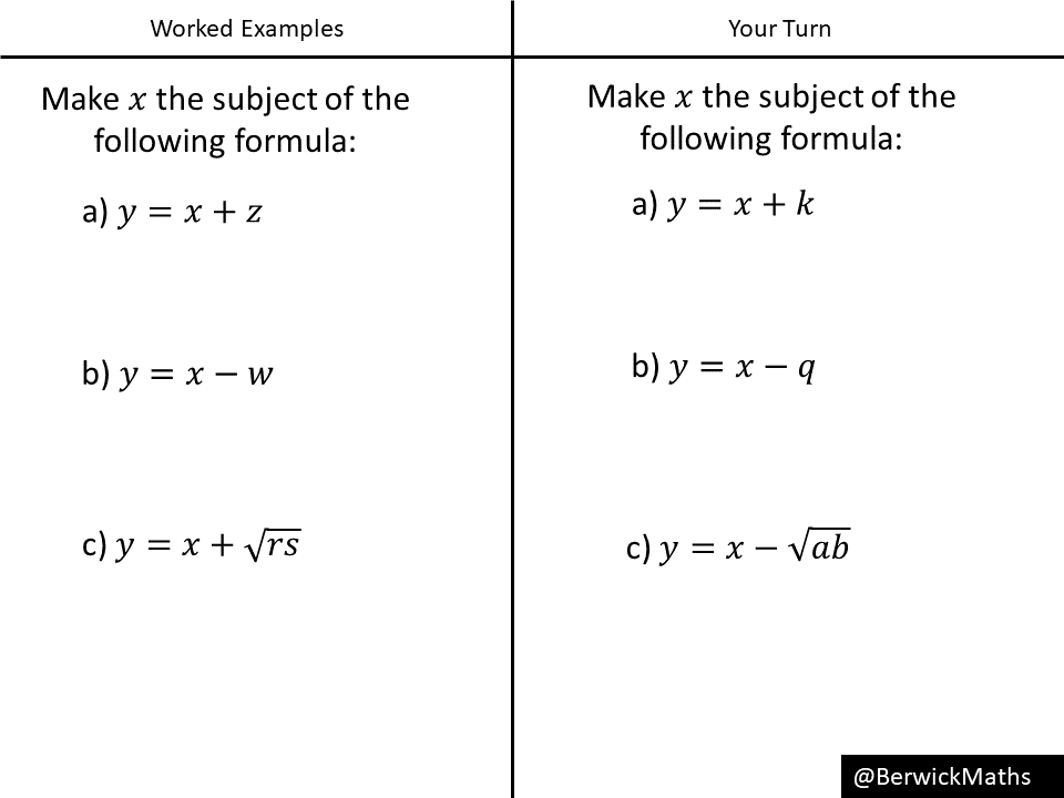 Changing the subject of a formula (6 exercises) – Variation ...