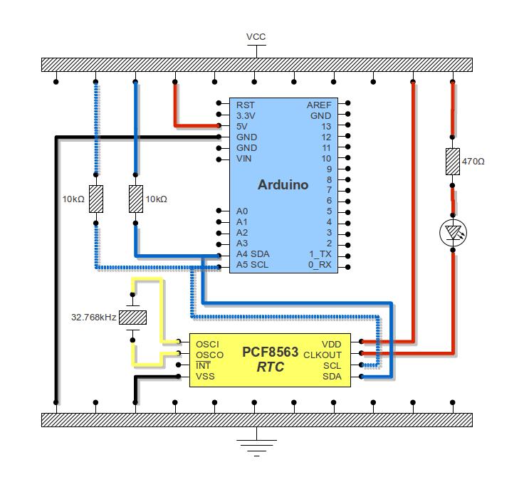 I2C RTC PCF8563: basic usage with Arduino (3/4)