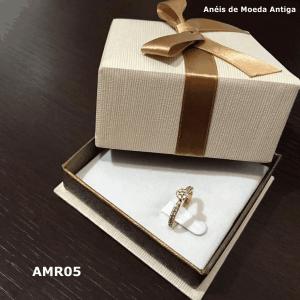 Anel Redondo de Moeda Antiga – AMR05