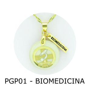 Pingente de Profissão Biomedicina com Resina – PGP01