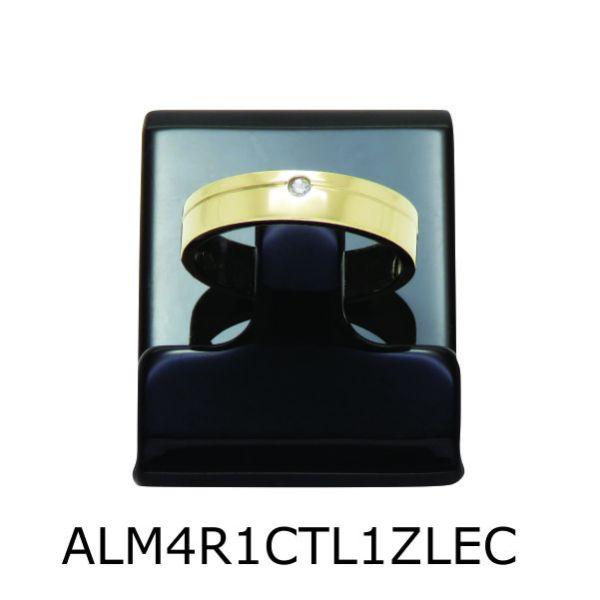 Aliança de Moeda Antiga Reta 4MM com Revestimento em Prata com 1 Canaleta no Torno Lateral e 1 Zircônia em Cima- ALM4R1CTL1ZEC