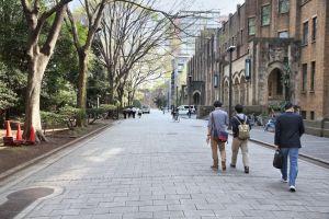 TOKYO, JAPAN: People visit the University of Tokyo campus in Japan. The university is also known as UTokyo or Todai. It is located in Bunkyo ward.