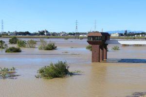 arakawa flooded by typhoon (saiko)
