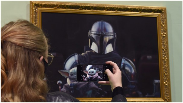 Baby Yoda Portrait Unveiled in London - Variety